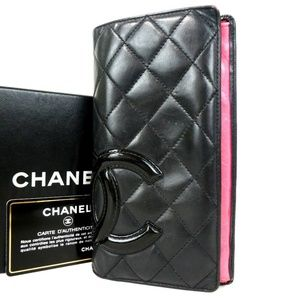 Used Authentic Chanel  Cambon line Wallet/Purse
